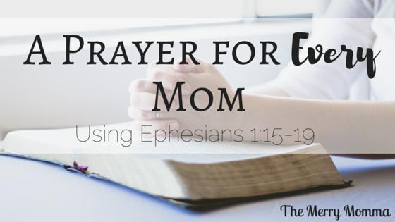 A Prayer for moms