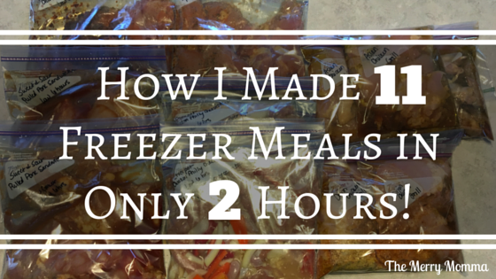 11 Freezer Meals in 2 Hours