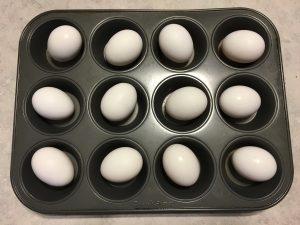 Eggs in the muffin tin