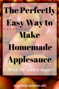 The Perfectly Easy Way to Make Homemade Applesauce