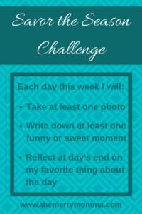 Savor the Season Challenge