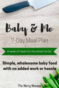 Baby & Me Meal Plan