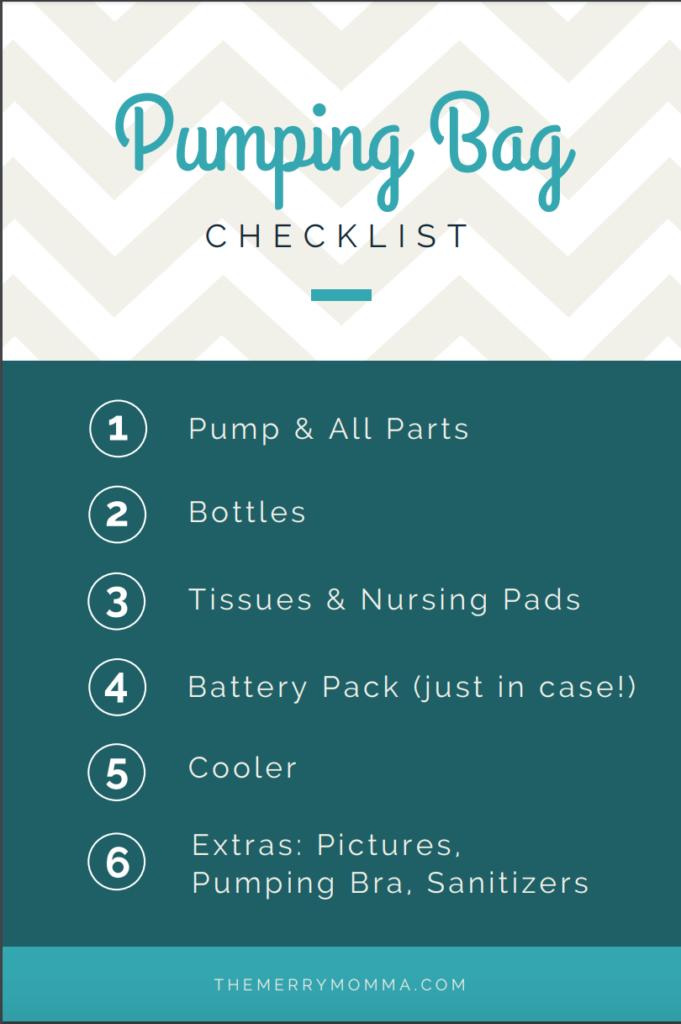 Pumping Bag Checklist
