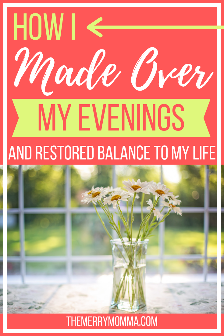 If you feel overwhelmed, exhausted, or discouraged by your day's to-do list, here's how you can make over your evenings and restore balance to your life!