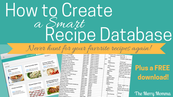 How to Create a Smart Recipe Database