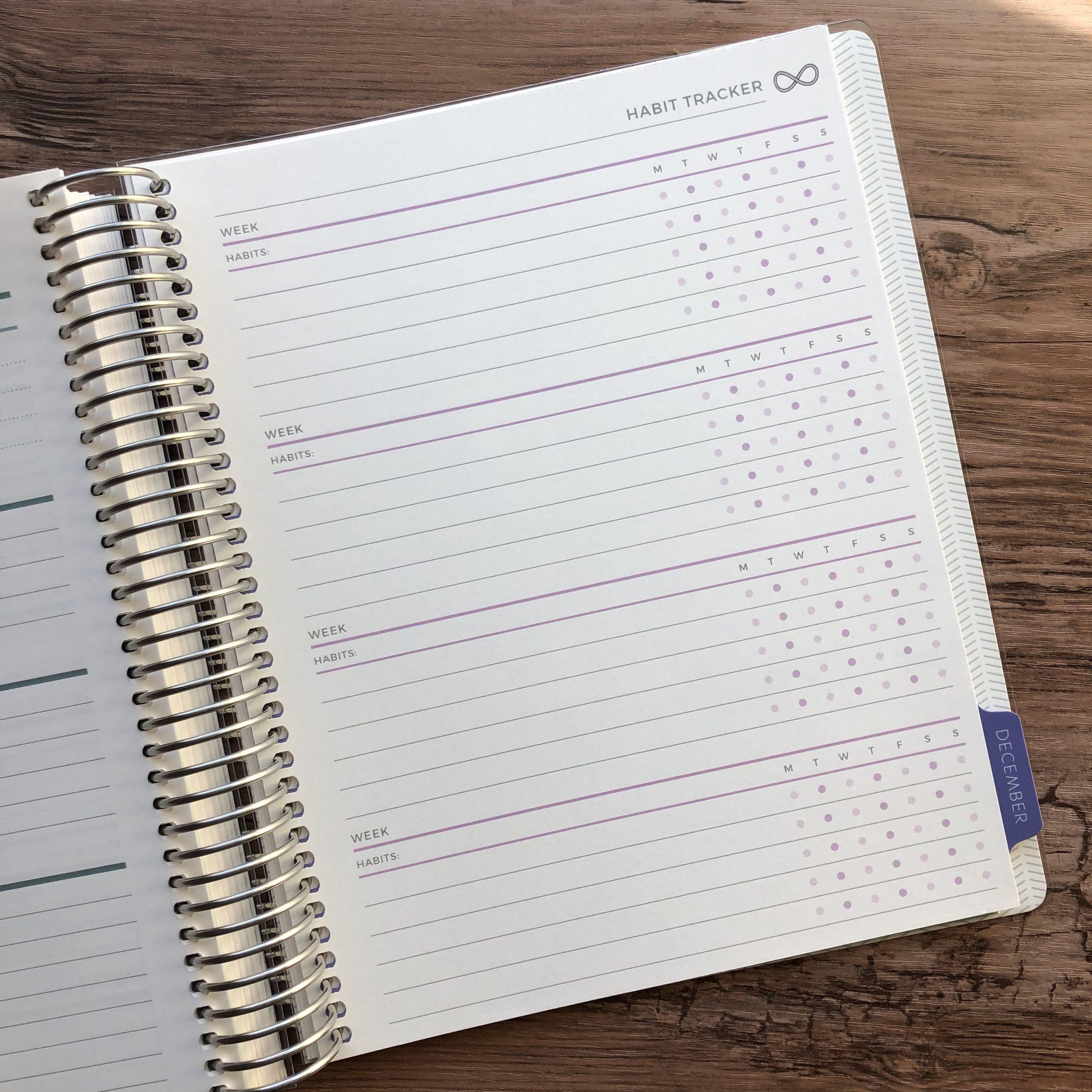 Plum Paper planner Habit Tracker
