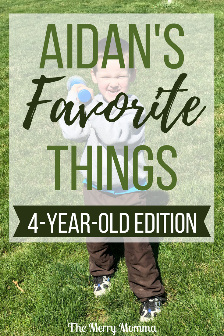 Aidan's Favorite Things {4-year-old edition}