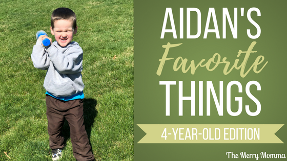 Aidan's Favorite Things