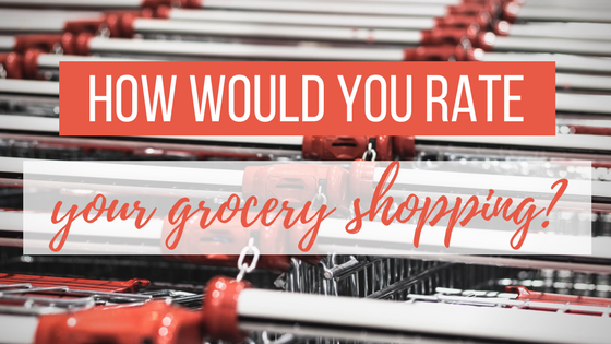 How would you rate your grocery shopping?