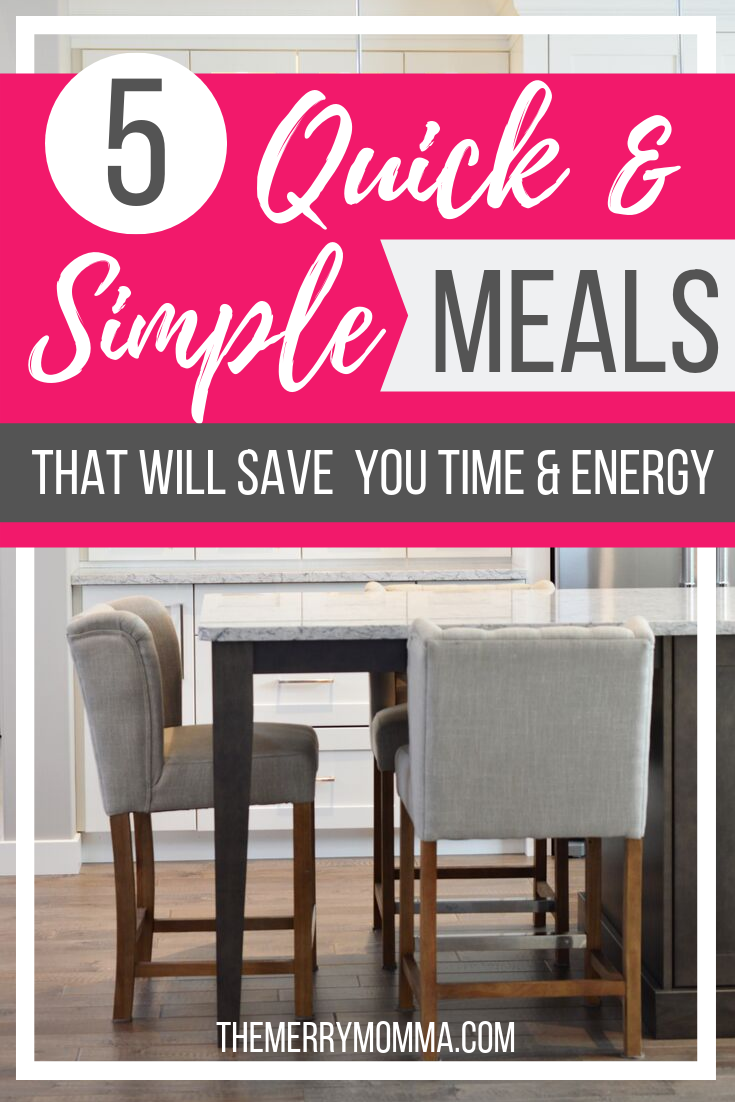 Planning and serving healthy, delicious food can be exhausting. But it doesn't have to be! Here are 5 simple meals that will save you time and energy.