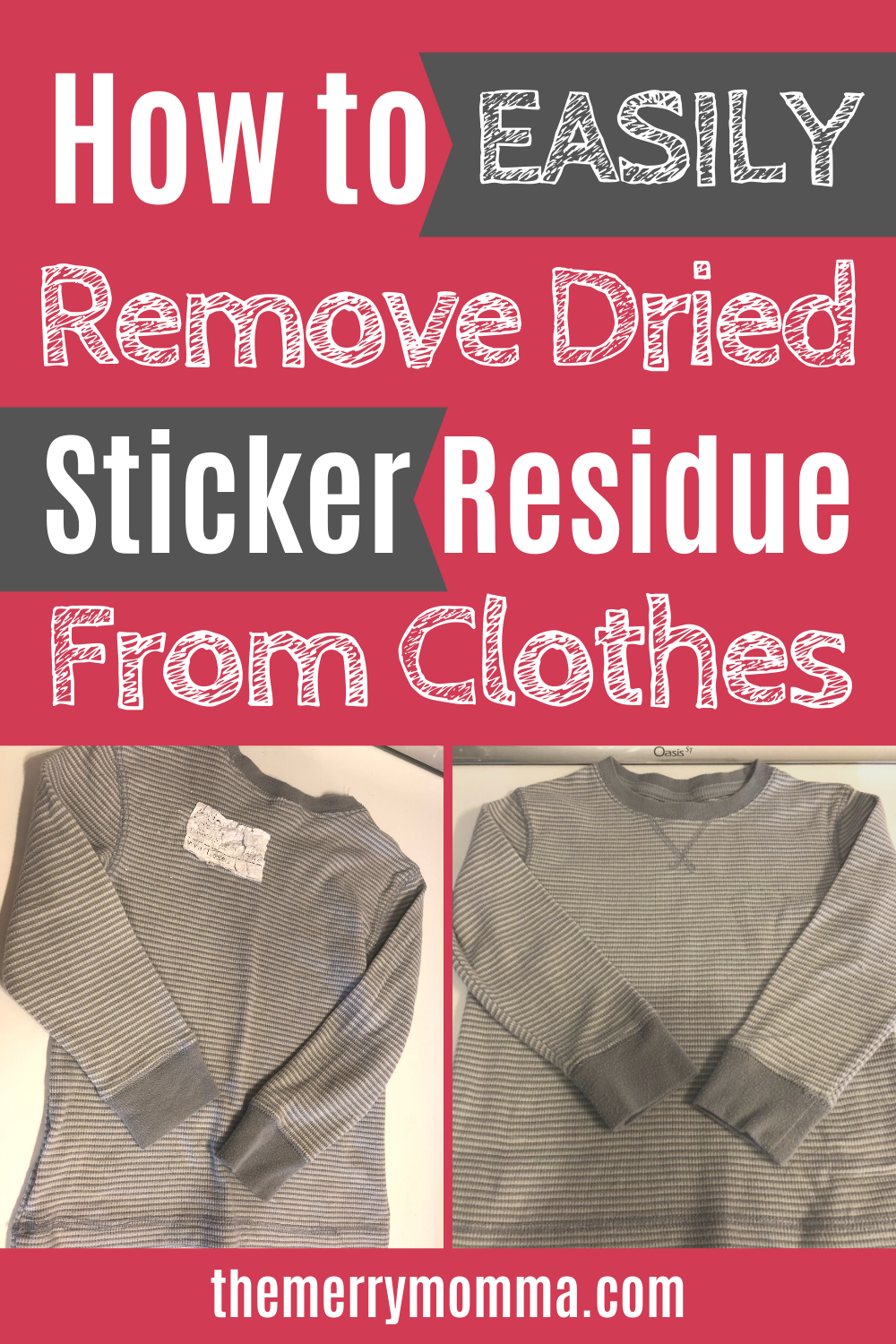 How to Easily Remove Sticker Residue from Clothes