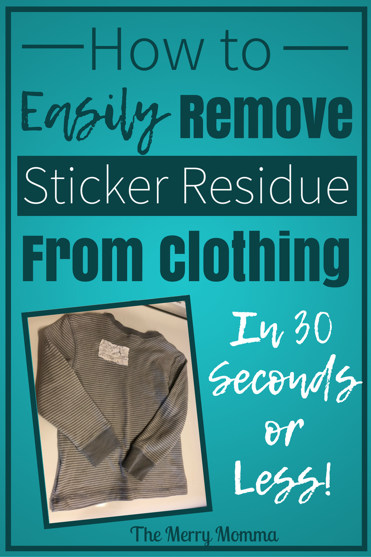 How to Easily Remove Sticker Residue From Clothing
