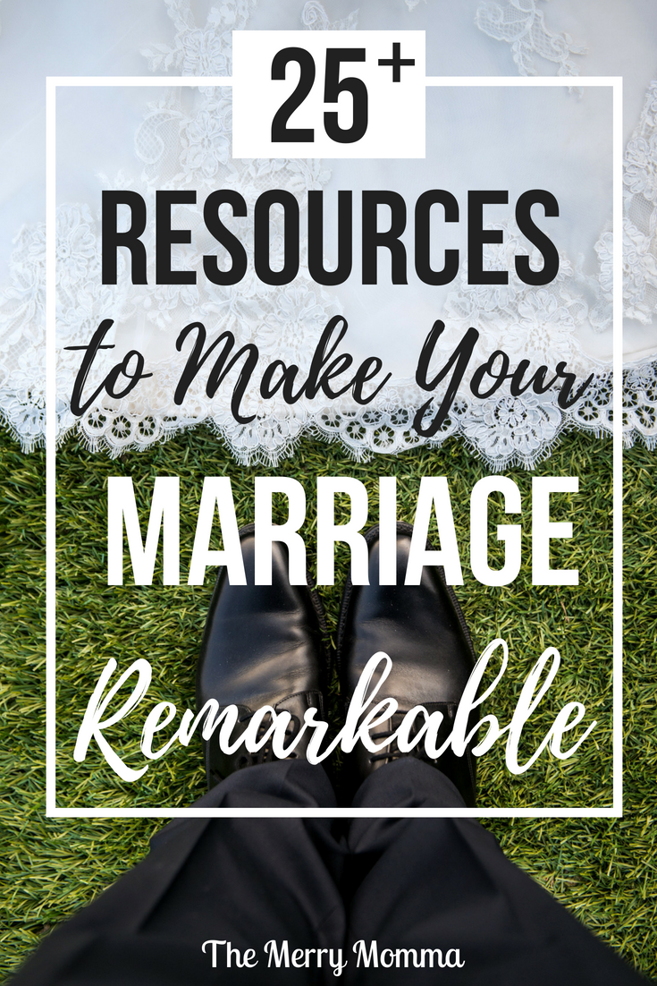 Tomorrow is our 8th wedding anniversary! So in honor of our special day, I've compiled a list of over 25 of my favorite marriage resources to help you create the remarkable marriage you've always wanted!