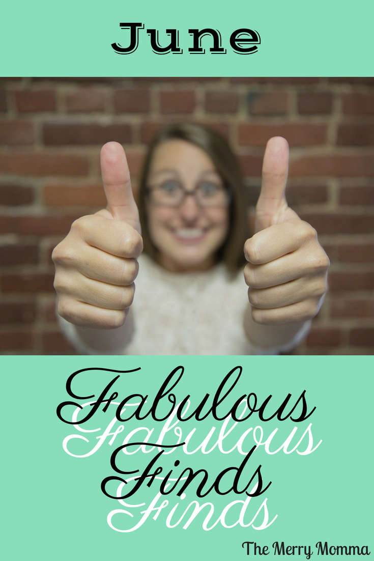 It's time for my favorite fabulous finds! These are the best of what I read, cooked, and used in the month of June. Discover something new and find something fabulous for yourself!