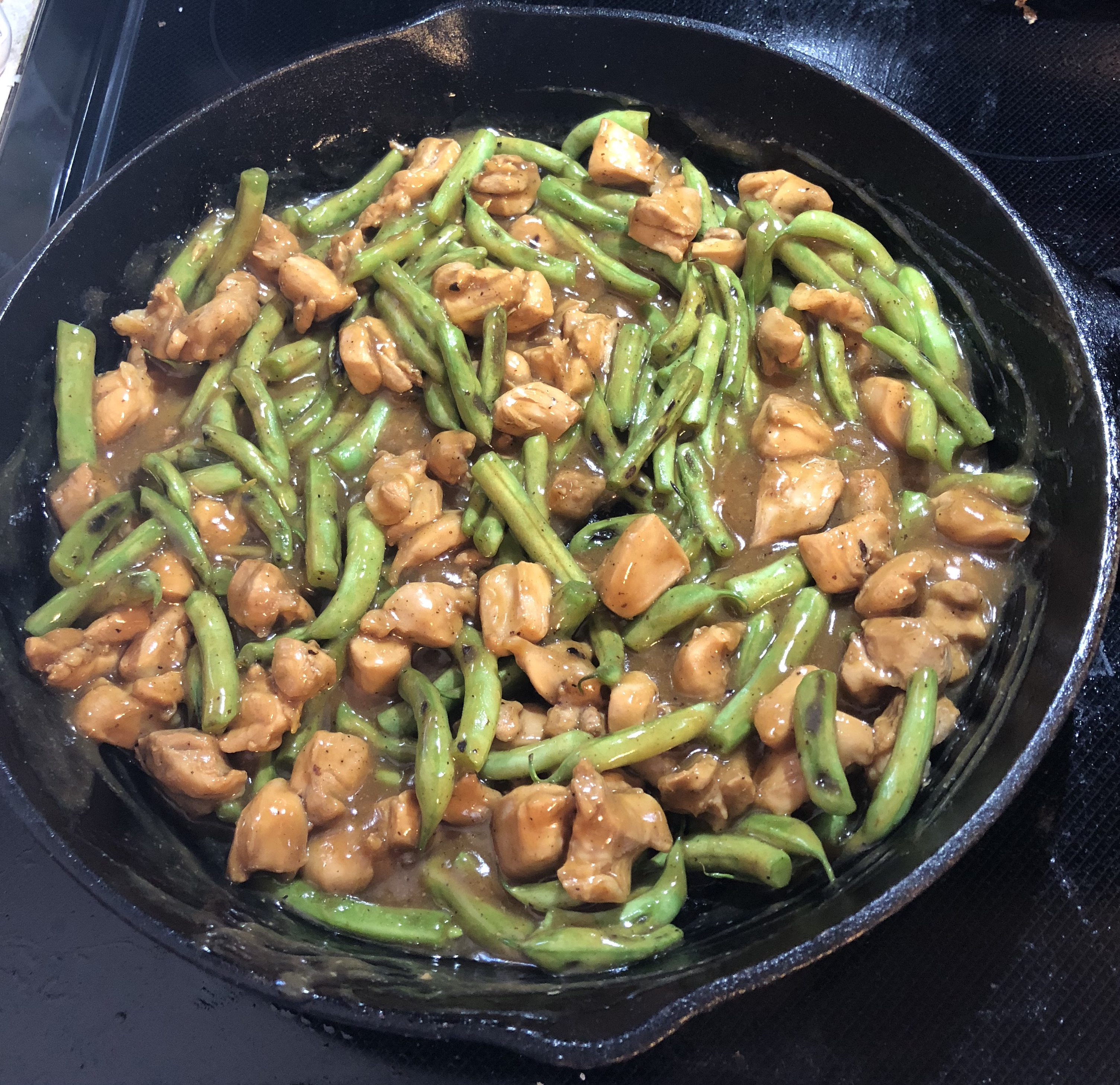 Honey Chicken with Green Beans