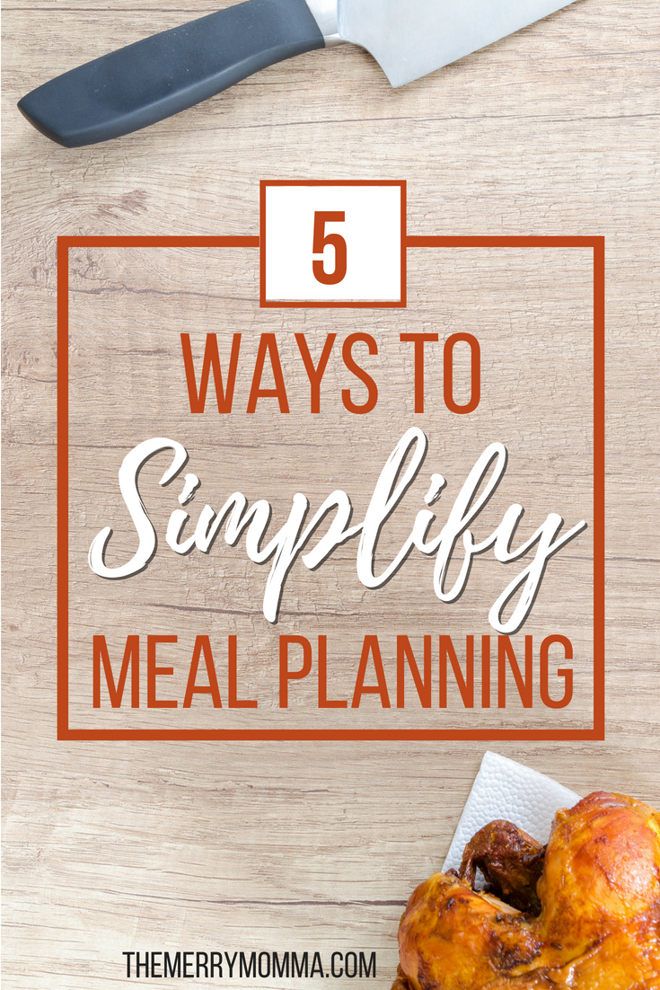 On the weeks you're low on time or short on energy, these 5 tips will help you meal plan in a streamlined, stripped-down, super simple way.