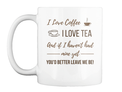 I Love Coffee mug