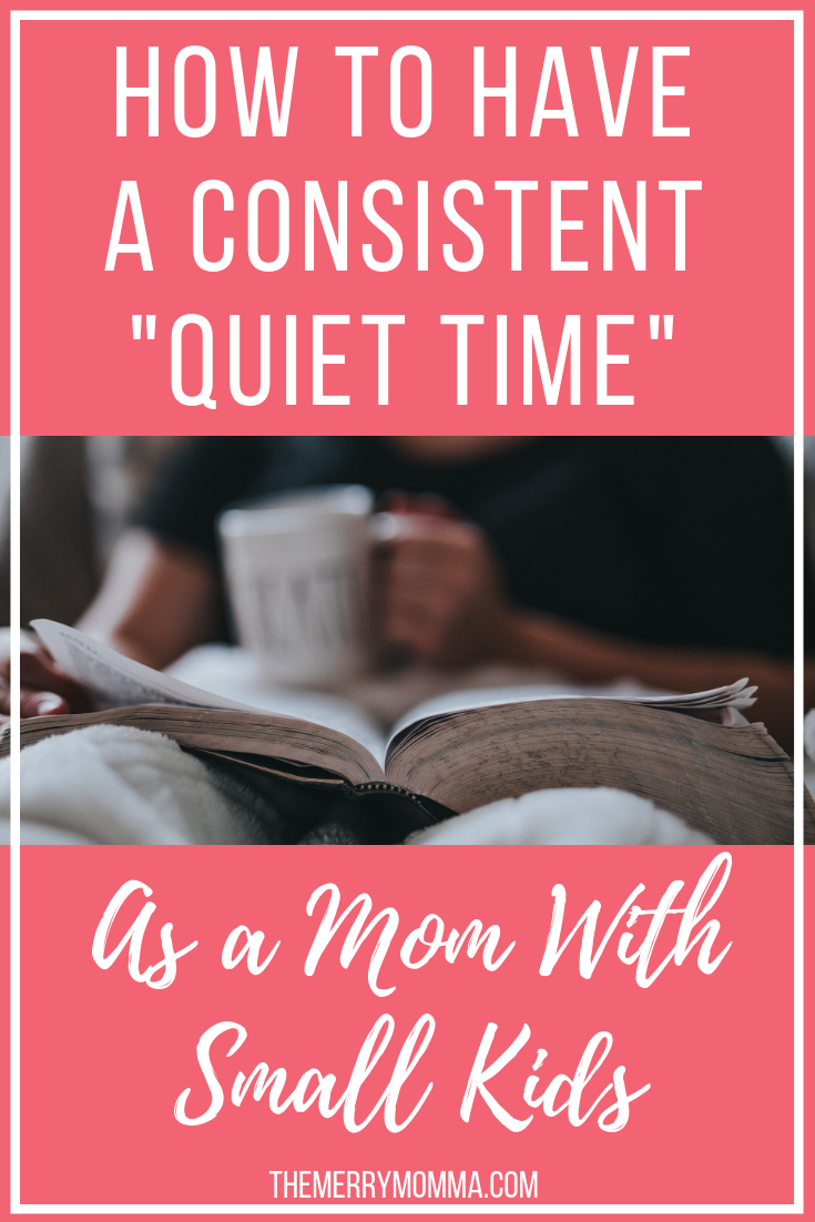 Having a consistent quiet time as a mom with small kids can be a challenge! Here are 5 tips for making daily time in Scripture and prayer a reality.