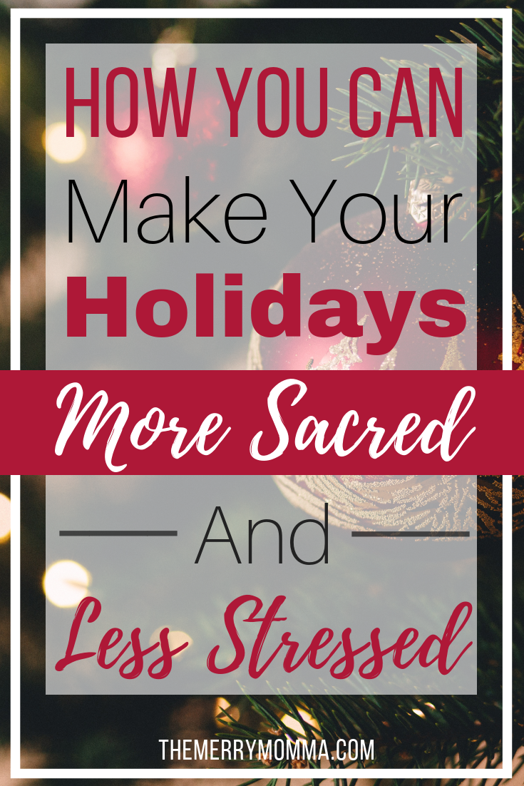If you would like to make your holidays more meaningful and sacred but you're just not sure how, this book is a must-read for you! {Sacred Holidays Review}