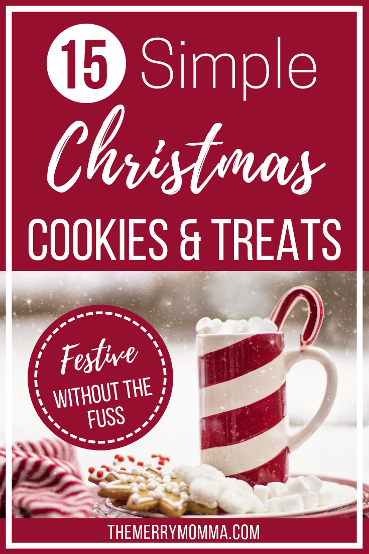 Today, I'm sharing 15 wonderfully simple (because I am so not in the season of complicated) recipes for Christmas cookies and Christmas treats that are sure to bring a little extra cheer to your house -- and joy to your bellies!