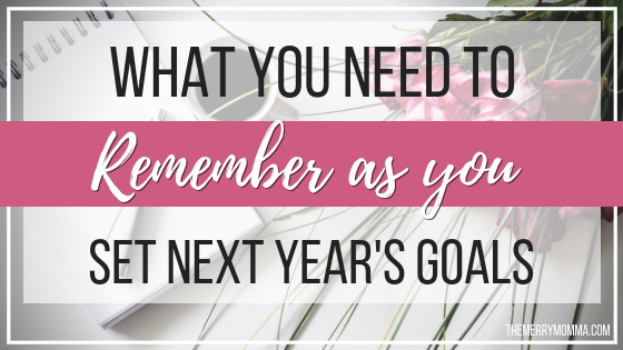 What You NEED to Remember as You Set Next Year's Goals -- Imperfect Progress