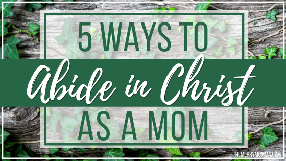 5 Ways to Abide in Christ As a Mom