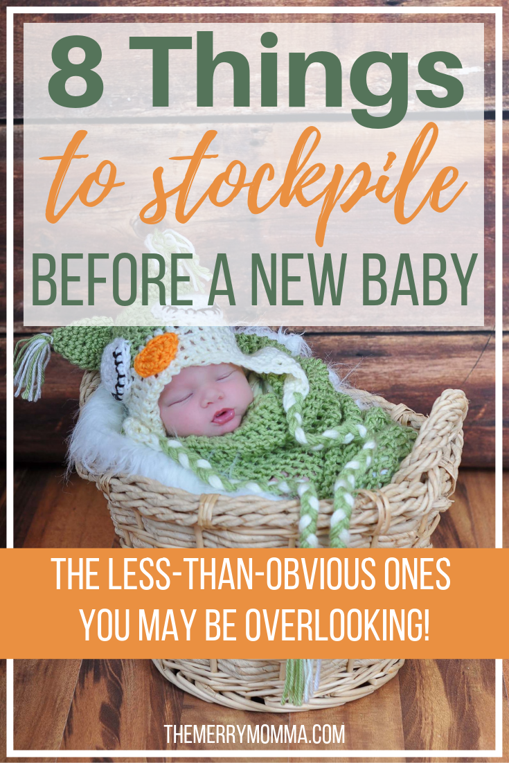 Many soon-to-be parents focus on the obvious prepping before the birth of a new baby, but here are eight things to stockpile before baby that you might be overlooking.