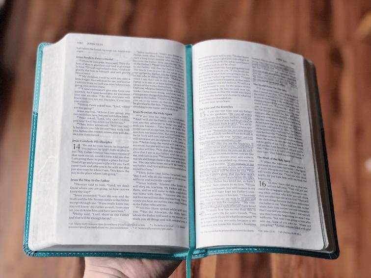 Bible open to John 15