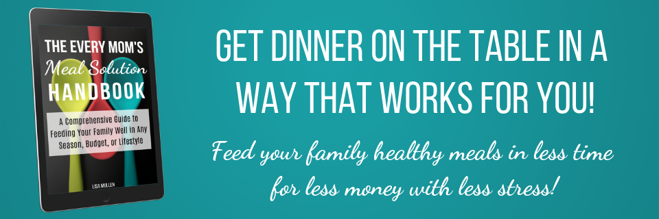 Get dinner on the table in a way that works for you -- feed your family healthy meals in less time for less money with less stress!