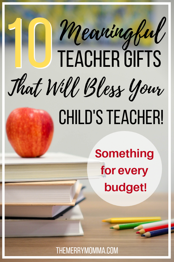 Drawing from my own observations as a teacher's kid and inspiration as an adult parent, I've assembled 10 ideas of meaningful teacher gifts your child's teacher will love. There's something for every teacher and every budget!