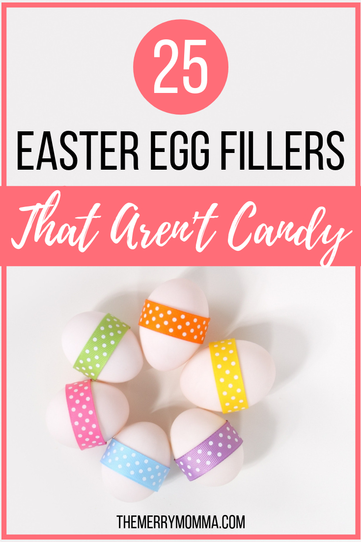 Are you looking for Easter egg filler ideas that aren't candy? This post is full of them! Here are 25 of our favorites or ones we'd love to try!
