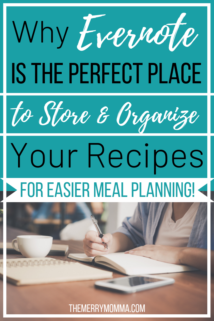 Meal planning is 100x easier when you have an organized stash of recipes. Evernote is the perfect place to store and organize recipes, and this is how I do it!