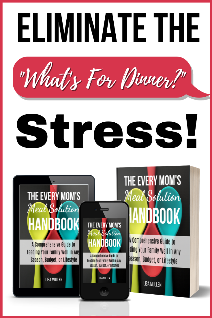 Figuring out what to fix for dinner every night is a major source of stress for many moms, but what if I told you it didn't have to be that way? What if 5:00 wasn't the most stressful part of your day? What if meal planning wasn't such a frustration? What if you felt good about what you were feeding your family every night? What if you did all of that AND saved hundreds of dollars on food every year? Yes, it IS possible, and you can make it happen with the tips & strategies in this book!