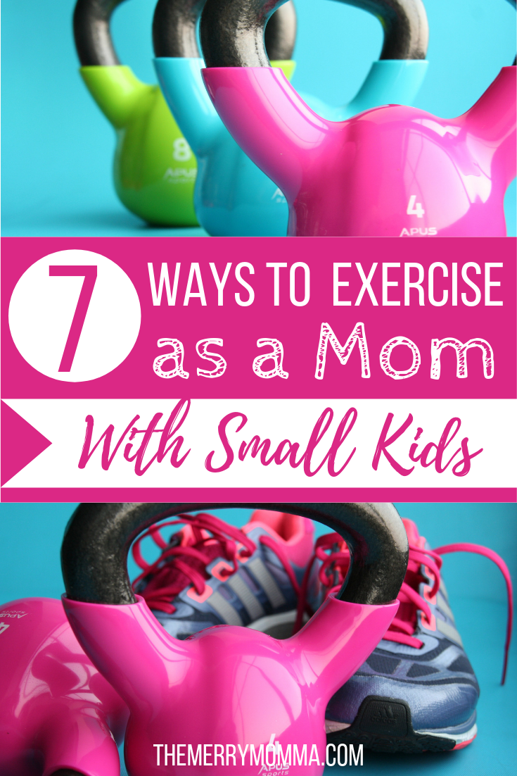 It can be hard to fit in exercise as a mom with small kids! But with a little creativity, flexibility, and these 7 tips, it is possible!