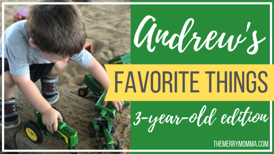 Andrew's Favorite Things {3-year-old edition}