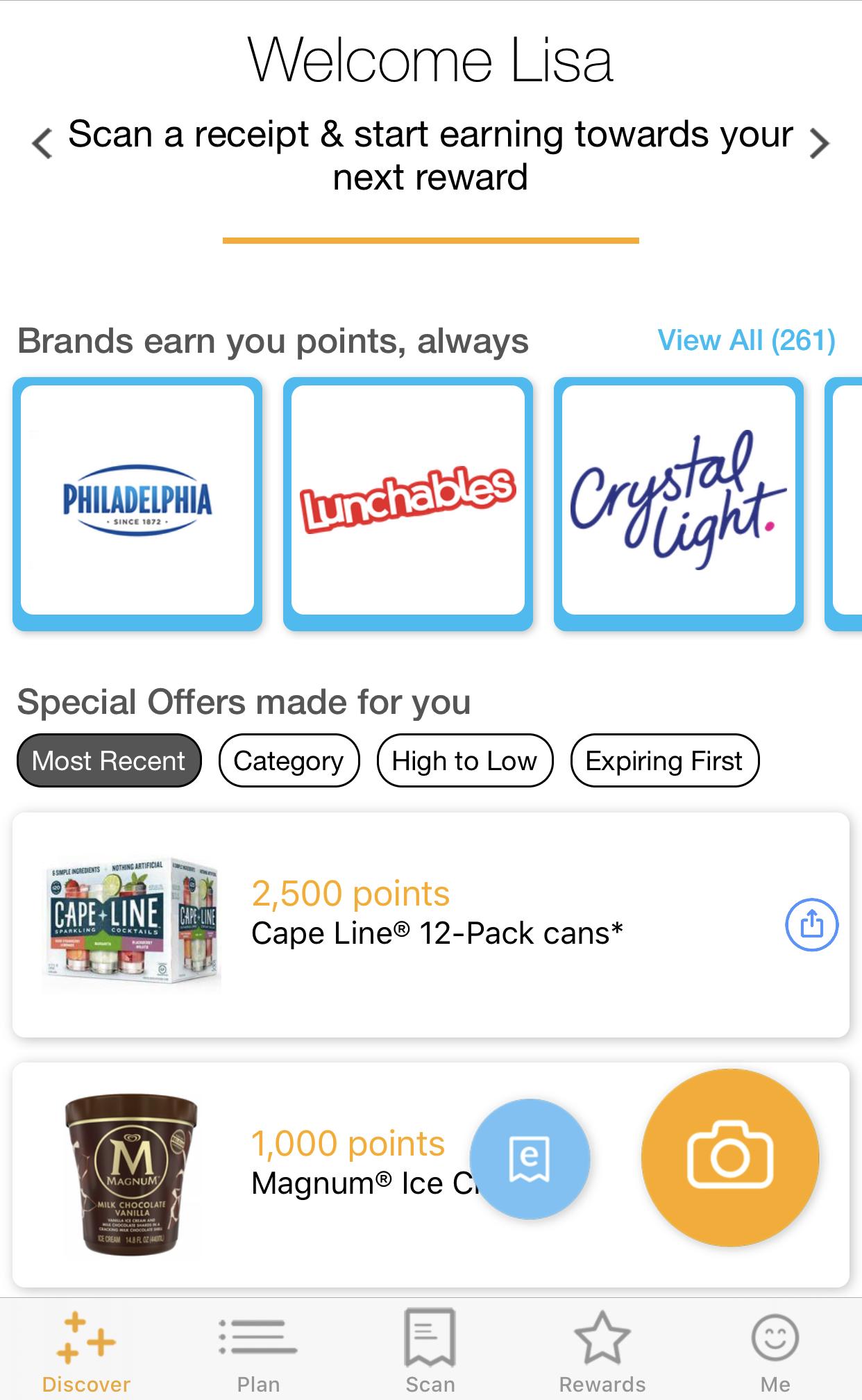 Fetch Rewards Cash Back app