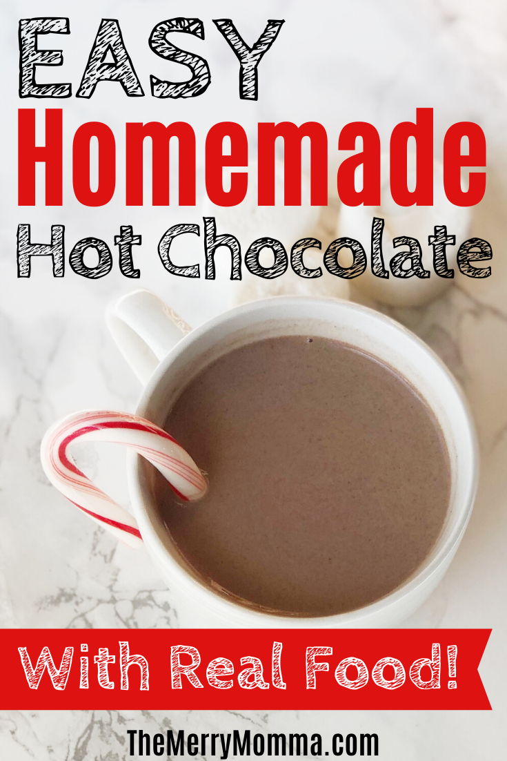 Easy Homemade Hot Chocolate {With Real Food!}