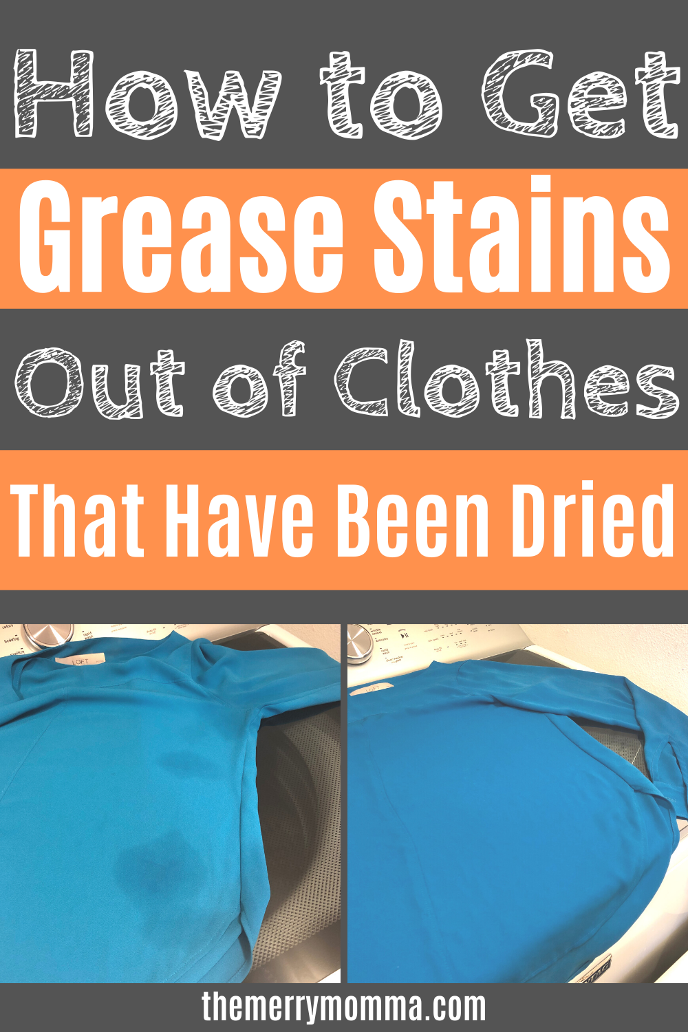 How to Get Grease Stains Out of Clothes That Have Been Dried