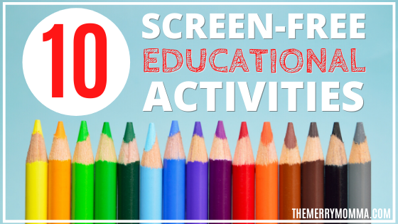 10 Screen-Free Educational Activities For Kids