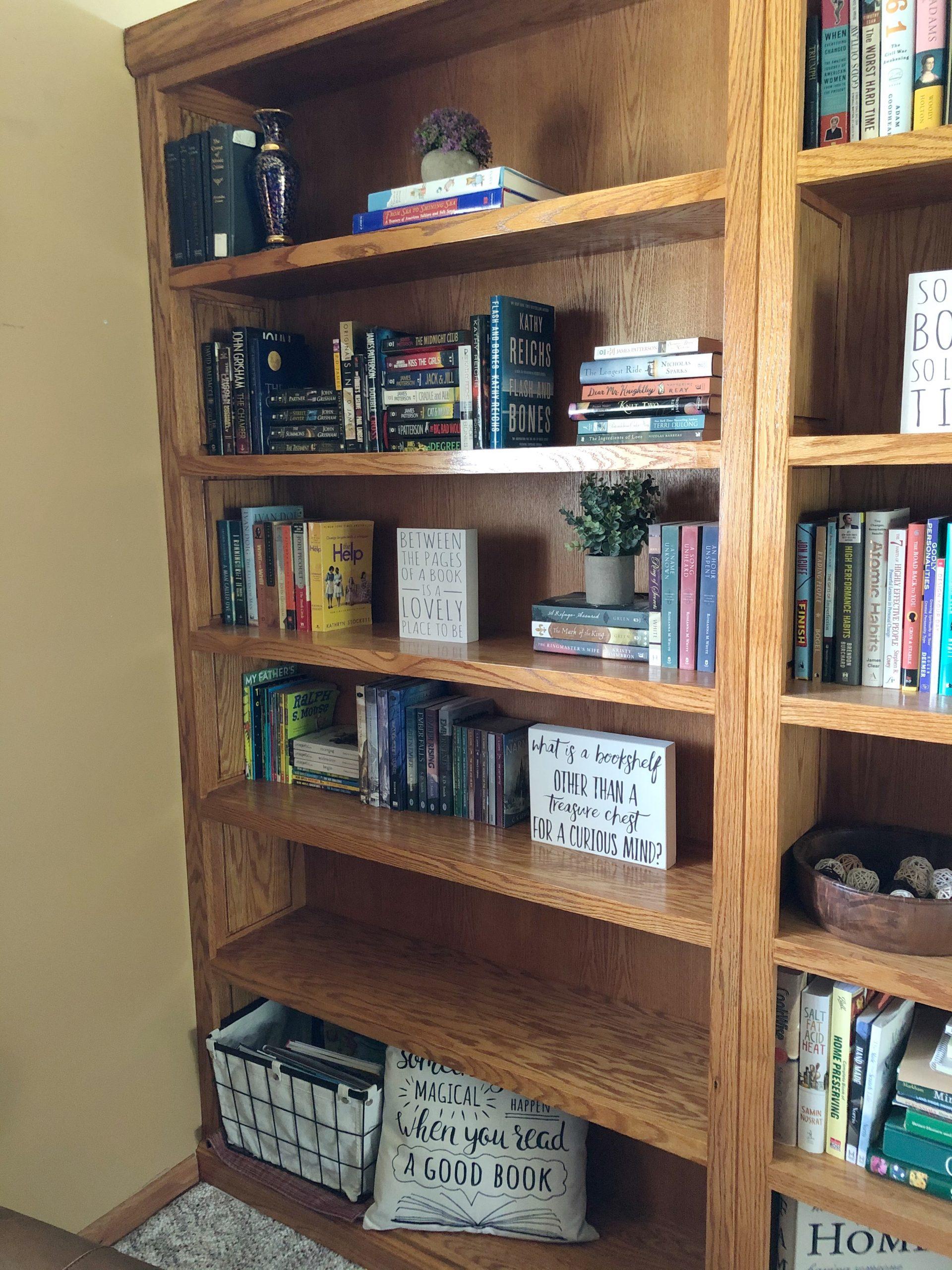 Far bookcase -- fiction