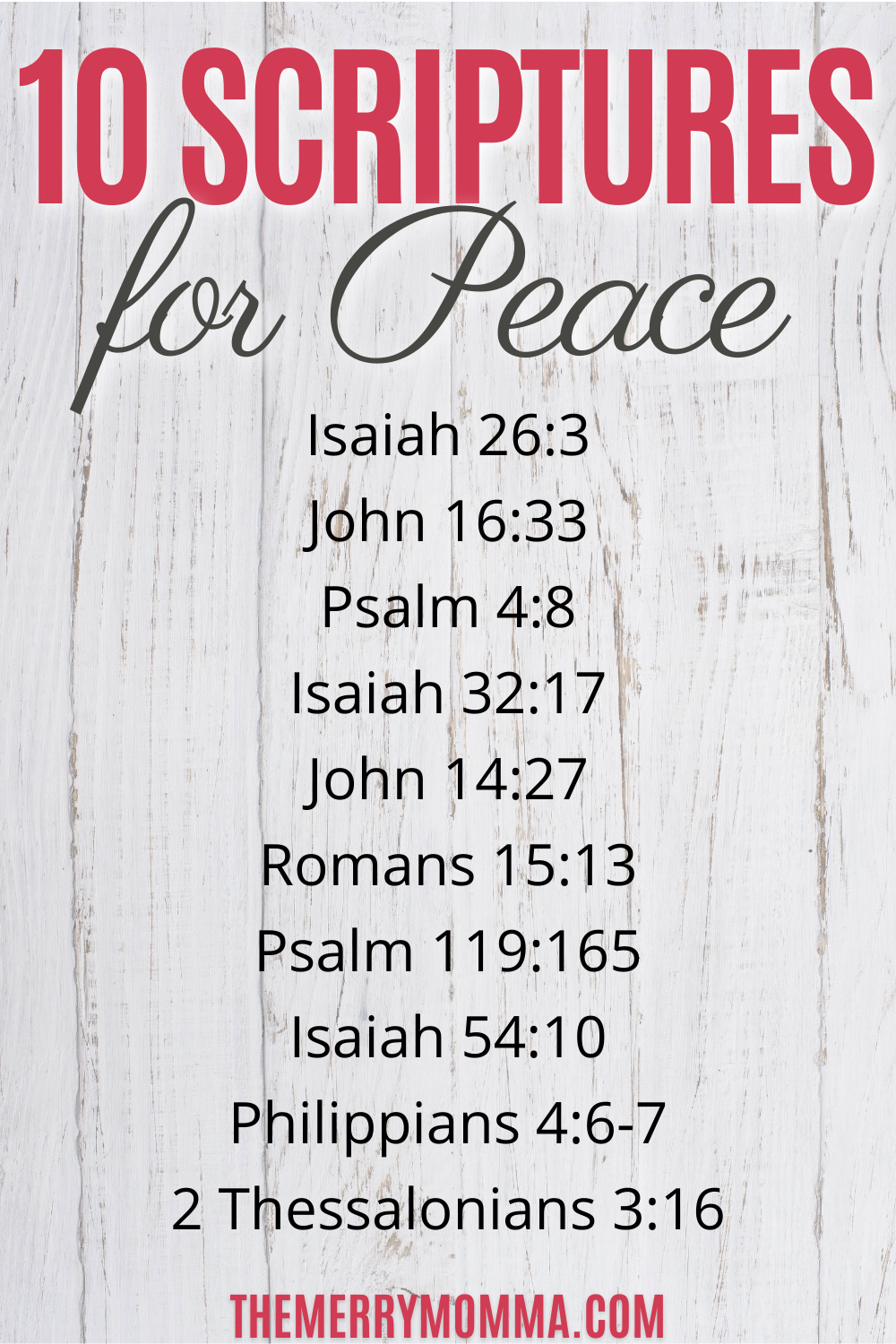 10 Bible Verses for Peace