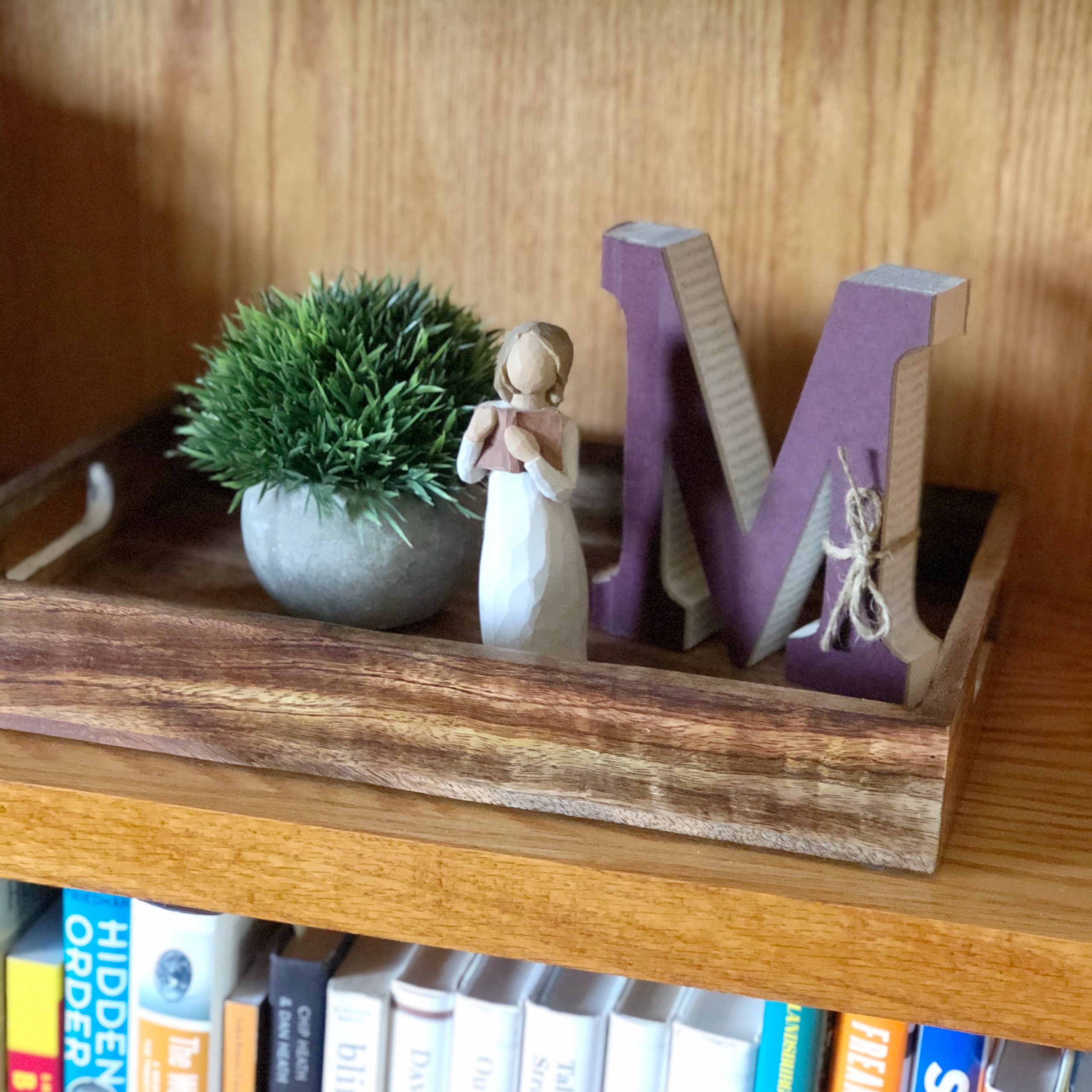 Decorative Tray with Decor Items
