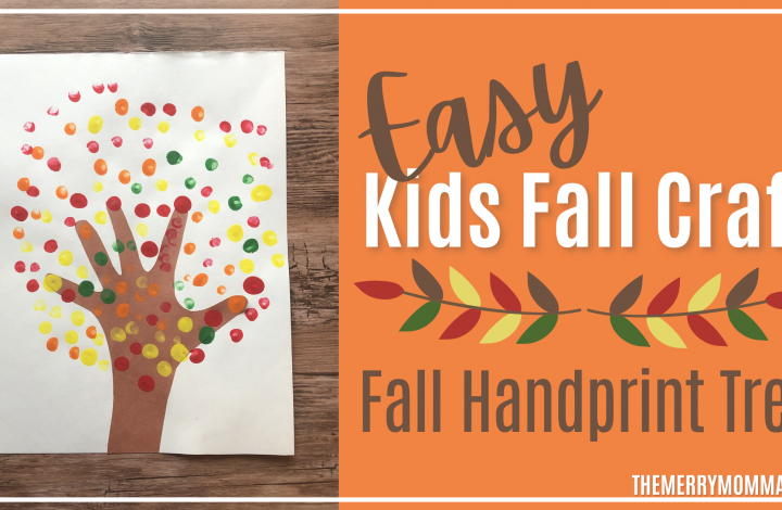 Easy Fall Craft: Fall Handprint Tree | The Merry Momma