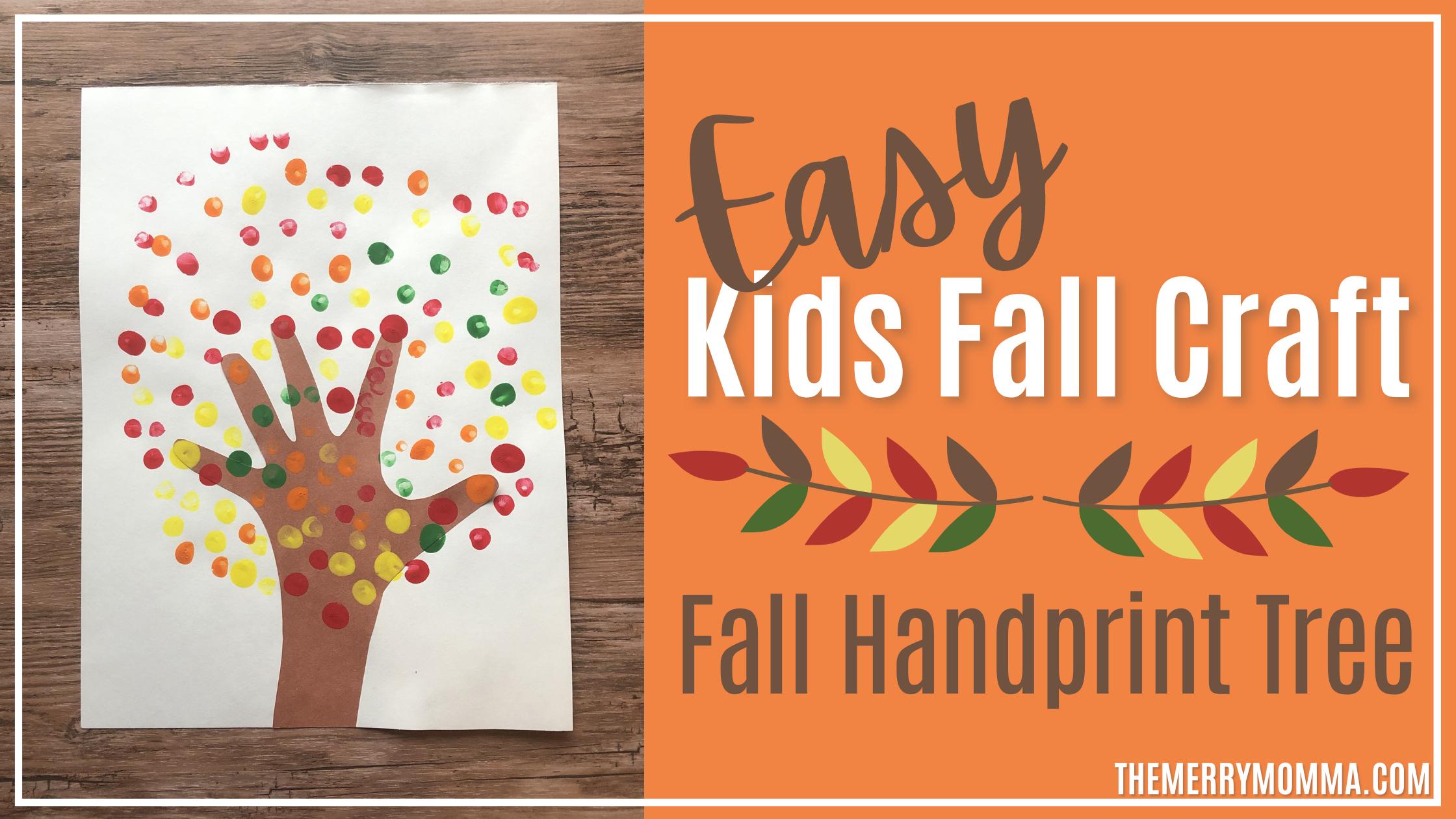 Easy Fall Craft: Fall Handprint Tree | The Merry Momma