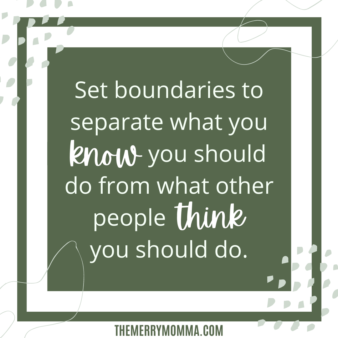 Setting boundaries around others' expectations