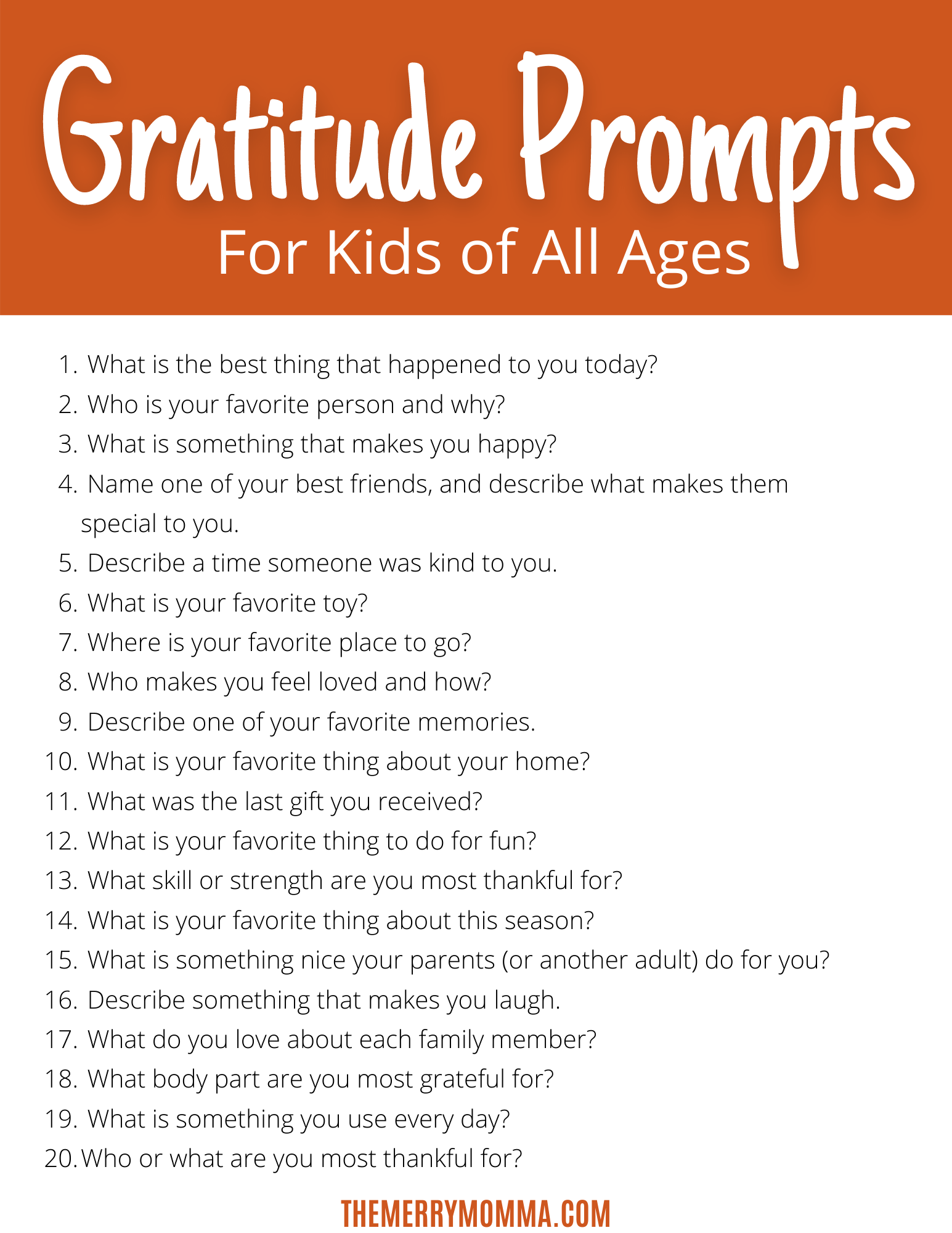 "Sign up to get this free ""Gratitude Prompts for Kids"" PDF!"