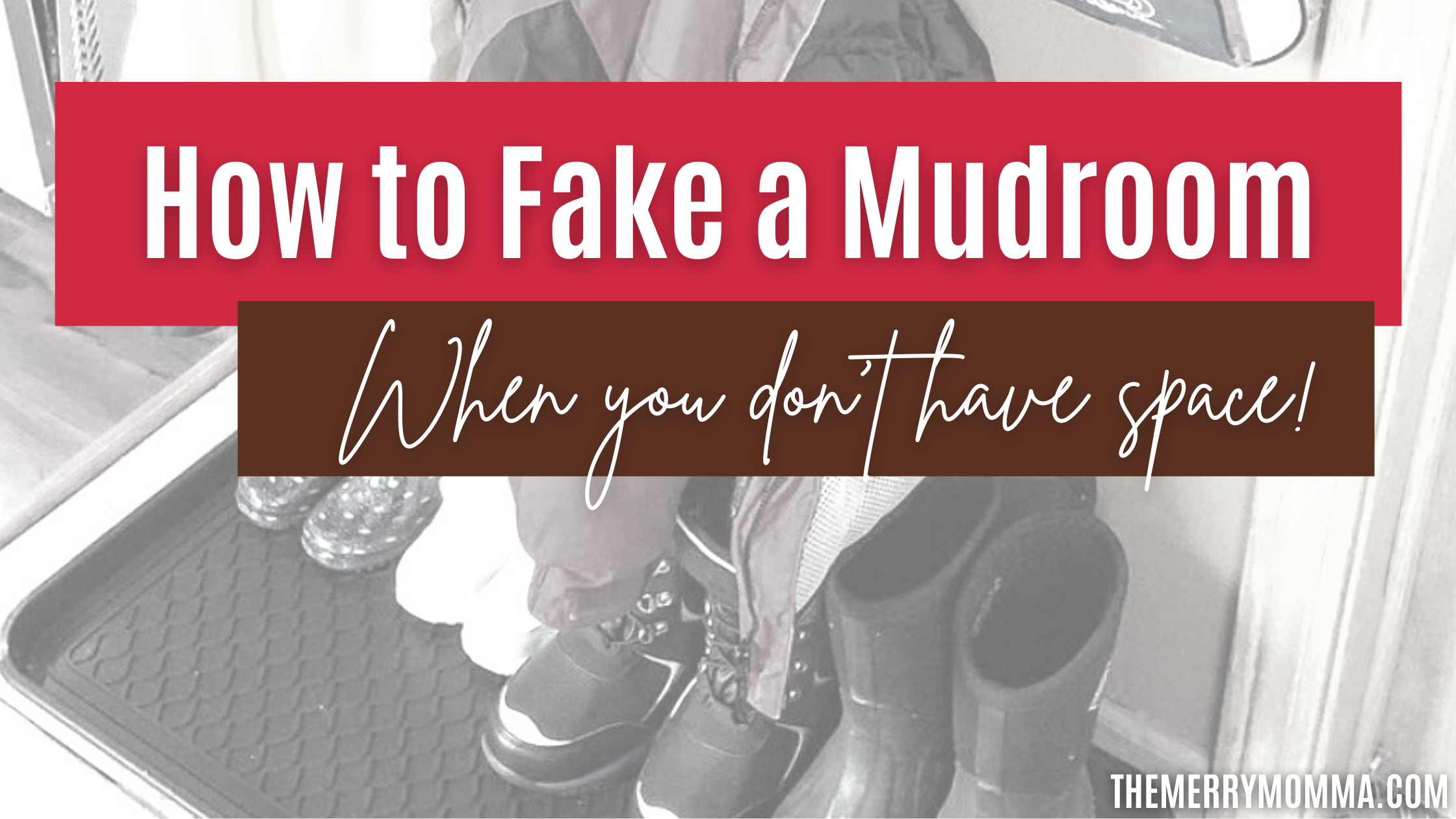 How to Fake a Mudroom When You Don't Have Space | The Merry Momma