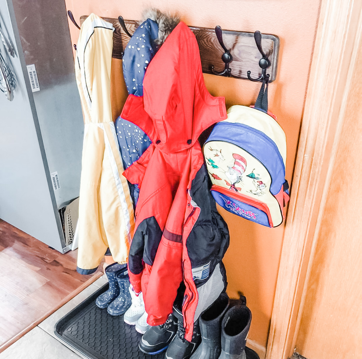 Our Mudroom Alternative   How to Fake a Mudroom