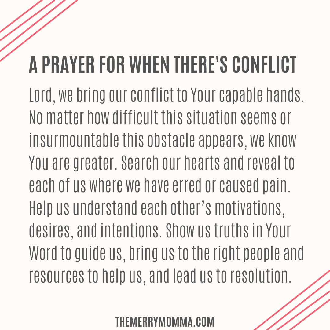 A Prayer for When There's Conflict