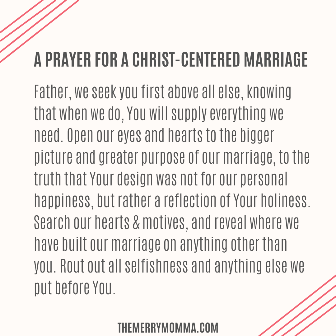 A Prayer for a Christ-Centered Marriage